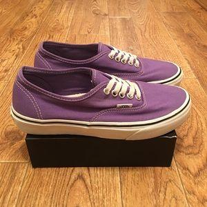 VANS Authentic Era Purple Skate Shoes (used)